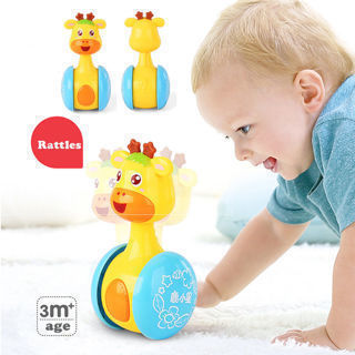 3-12 Months Baby Rattles Tumbler Doll Toy Bell Music Learning Education Toys