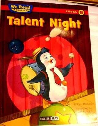"We Read Phonics, Level 5:  ""Talent Night"" Children's book"