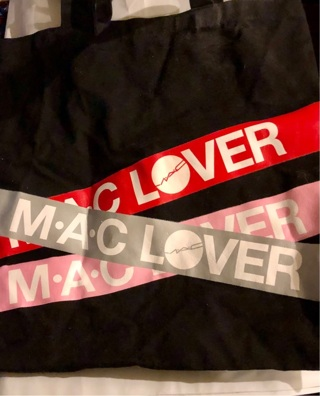 "Brand New: 13"" x 13.5"" Black ""MAC LOVER"" Tote Bag. [Promo Gift From MAC Makeup]"