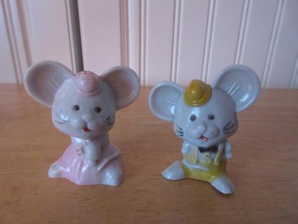 Vintage Mouse Salt & Pepper Shakers