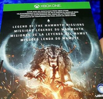 Free Far Cry Primal Legend Of The Mammoth Missions Dlc Xbox One Low Gin Video Game Prepaid Cards Codes Listia Com Auctions For Free Stuff