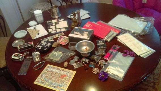 "Huge ""Junk Drawer"" Clean out. New, Used and Vintage Items. 200+ items. Coins, jewelry, etc."