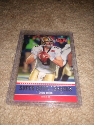 2 card lot 2011 Topps football Bart Starr and Drew Brees super bowl legends inserts