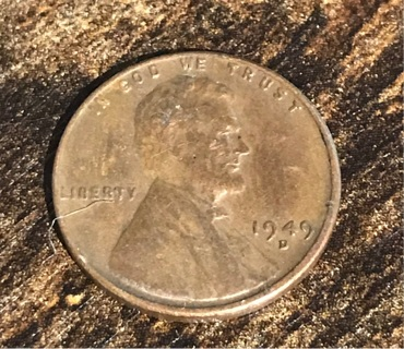1949 D Lincoln Penny Cent Coin