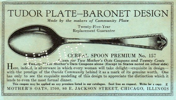 Vintage Ephemera (paper) Advertising: Mother's Oats Coupon, Save & Redeem for Spoon