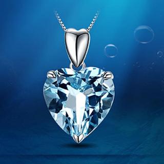 Heart of the Sea shape sapphire Pendant