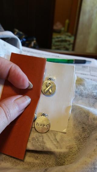ribbon charm breast cancer