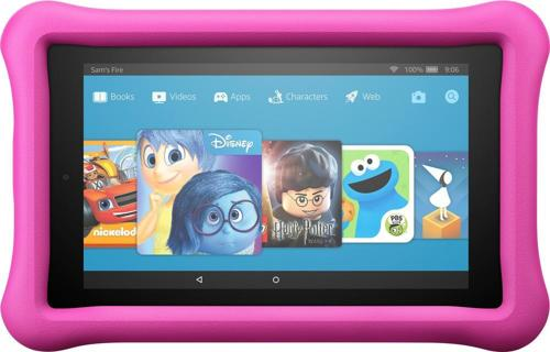 "Amazon - Fire Kids Edition - 7"" - Tablet - 16GB 7th Generation, 2017 Release - Pink"