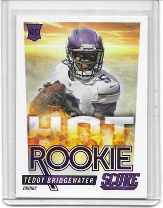Teddy Bridgewater 2014 Score Hot Rookies #HR2