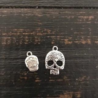2 Skull Charms
