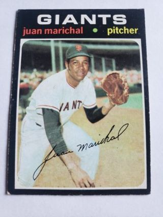 1971 topps Juan marichal San Francisco giants vintage baseball card