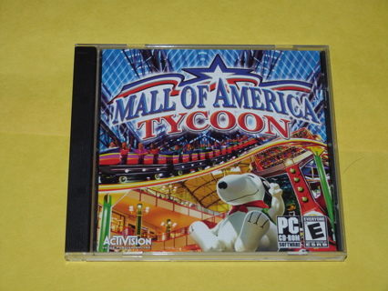 Mall of America Tycoon PC Video Game