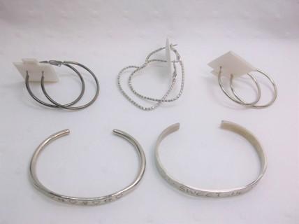 Hoop Earrings & Bracelets Lot