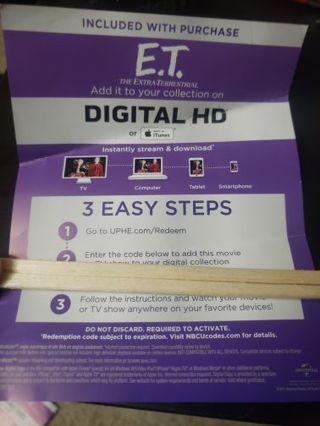 E.T Digital Download CODE