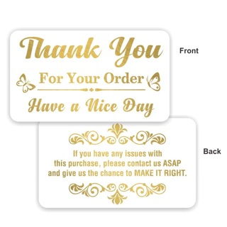 Gold Leaf~Thank You for Your Order Cards (20 Pcs)