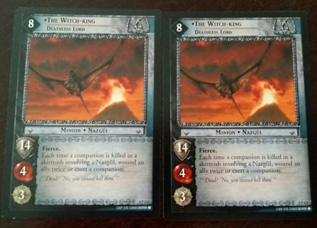 2 Promotional The Lord Of The Rings Collectors Gaming Cards