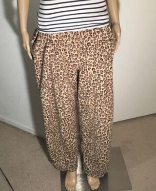 SOFT CHEETAH LEOPARD BOTTOMS Fuzzy Sweatpants