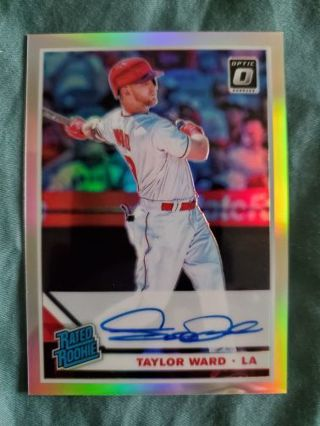 2019 Donruss Optic Rated Rookie Prizm Autograph Taylor Ward