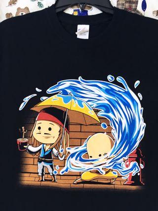 MEN'S Groot Jack Sparrow & Avatar Air Bender Shirt SIZE MEDIUM Top FREE SHIPPING