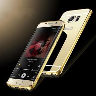 Aluminum Metal Mirror Case + PC Back Cover For Samsung Galaxy S7/Edge/A5100/