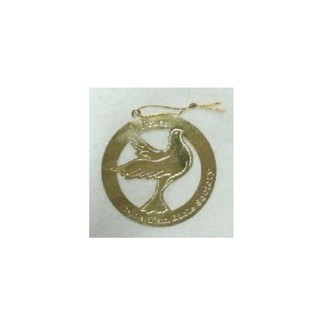 Golden Peace Dove Ornament Canadian Bible Society