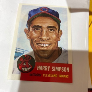 1953 topps archives Harry Simpson   baseball card