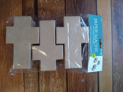 Paper Mache Cross Boxes-Unopened