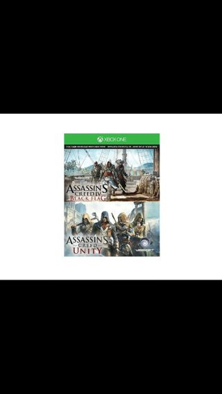 Assassin's creed black flag and Assassin's creed unity for Xbox one!