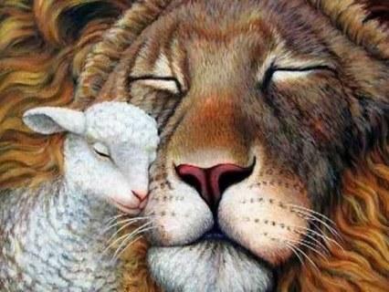 FREE Lion And Lamb Cross Stitch Pattern