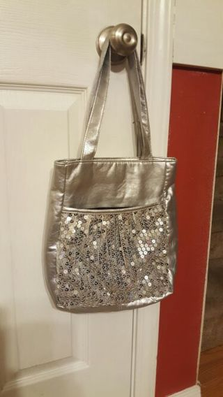 Limited Too Silver Sequin Tote - Tiered Auction