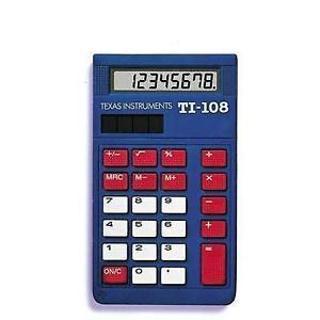 TEXAS INSTRUMENTS TI-108 SOLAR CALCULATOR