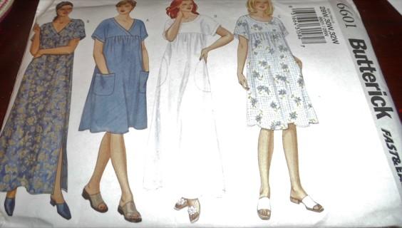 Uncut Dress Pattern - Butterick #6601