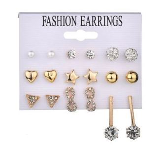 New Style Symbol Stud Earrings Set for Women Gift E2622