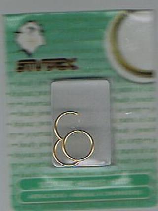"""18GA 3/8"""" GOLD SelfHinged Hoop Earrings"""