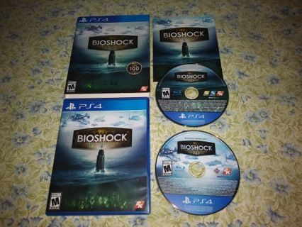 PS4 BIOSHOCK: THE COLLECTION...WITH SLIPCOVER...LIKE NEW CONDITION...FREE SHIPPING WITH TRACKING...