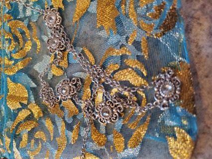 Steeling silver necklace