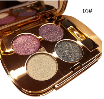 4 Colors Gold Smoky Cosmetics Diamond Bright Glitter Eye Shadow Professional Eye Makeup
