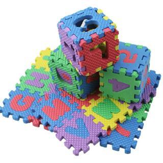 36PCS Alphabet  & Numerals Baby Soft Foam Mats Kids Play Mat Educational Toy