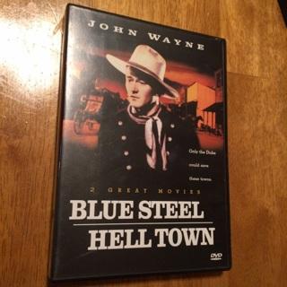 DVD - Blue Steel & Hell Town * Double Feature (featuring John Wayne)