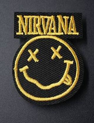 grunge 90s rock band patch iron on embroidered applique fabric patch badge DIY clothing free shippin