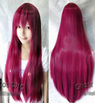 Rose Colored Synthetic Wig