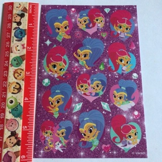 Shimmer and Shine Cartoon Sticker Sheet #1 NEW