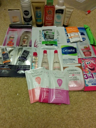 Free: My Biggest Sample Lot Ever! - Shampoo/Lotion/Mascara