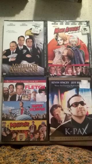 Lot of 6 NEW DVD movies PLUS HORROR Halloween Bonus