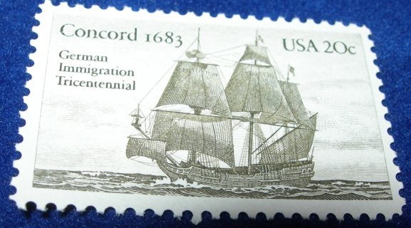 Collectible Stamp Unused Concord1683 20 Cent Scott 2040