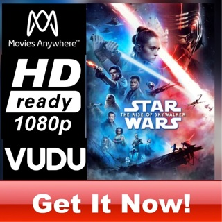 STAR WARS: THE RISE OF SKYWALKER HD MOVIES ANYWHERE OR VUDU CODE ONLY