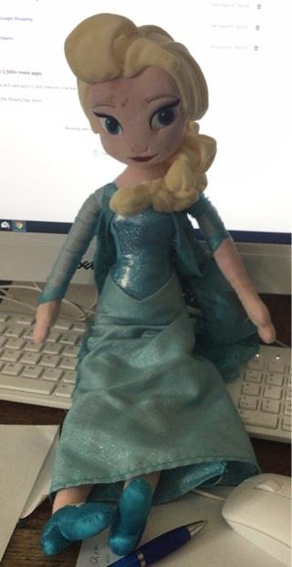Disney Elsa Plush Doll - Medium - 20 Inch
