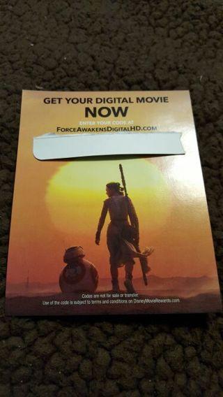 Star Wars the Force Awakens UV Digital Download