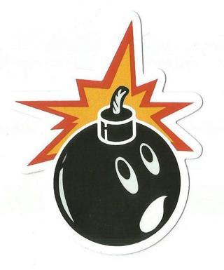 Cute Bomb Sticker - New : )