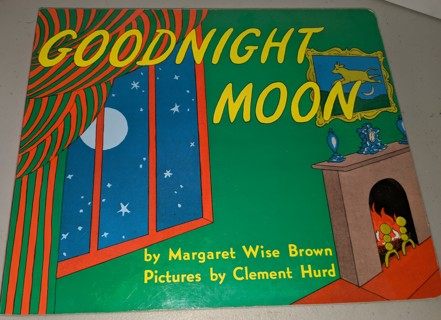 2001 GOODNIGHT MOON large oversized hardcover edition 34-pages VG condition